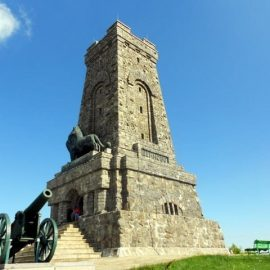 Monument on a peak Shipka - Bulgaria