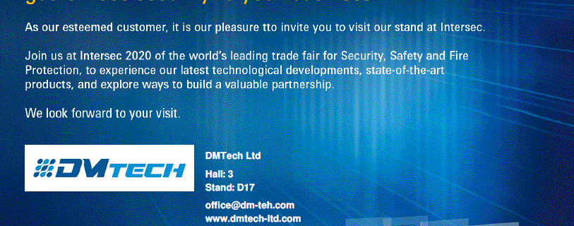 Intersec 2020, Dubai, United Arab Emirates